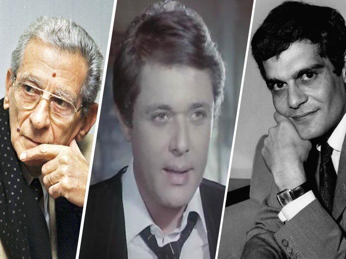 عمر الشريف ومحمود عبد العزيز ويوسف شاهين