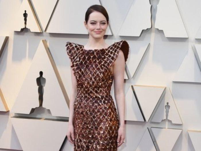 ايما ستون بفستان من Louis Vuitton