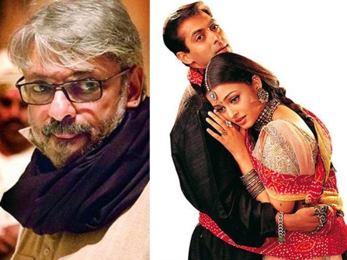 المخرج الهندى سانجاى ليلا بانسالى و الفنان سلمان خان وأشواريا راى باتشان