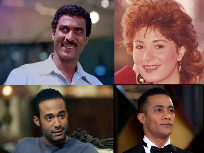 أحمد زكى وهالة فؤاد وهيثم أحمد زكى ومحمد رمضان