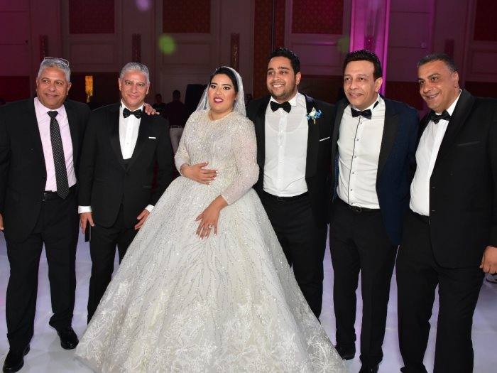 نجوم الفن والسياسة فى زفاف نجل السنونسى بلبع على كريمة حسن عيسى