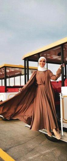 ملابس - ازياء - محجبات - فستان - المونوكورم