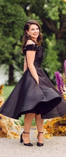 فستان زفاف اسود - ازياء