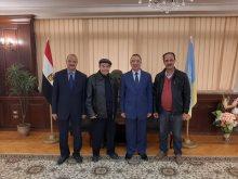 سمير صبرى مع محافظ الإسكندرية
