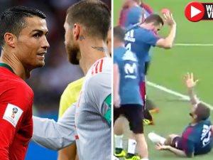 راموس يسخر من رونالدو فى تدريبات إسبانيا.. ويؤكد اقتراب رحيله عن مدريد