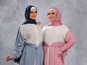 مجموعة العيد للمصممة نعيمة كامل ألوان هادئة وموديلات فضفاضة