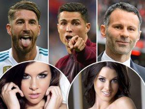 على طريقة شحاتة أبو كف.. 10 جميلات تخصص نجوم كرة قدم