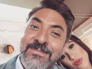 سيلفى جديد.. فتحى عبدالوهاب مع ياسمين عبدالعزيز فى مسلسل «الملكة»