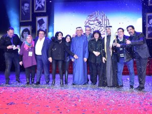 صور.. «الطوق والأسورة» ينال جائزة أفضل عرض بمهرجان المسرح العربى