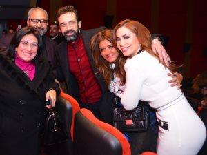 صور.. كريم عبد العزيز وغادة عادل يحتفلان بالعرض الخاص لفيلم نادى الرجال السرى