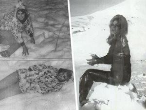 الثلج يجمعنا.. شاهد سعاد حسنى ونادية لطفى تستمتعان بالتزلج على الجليد
