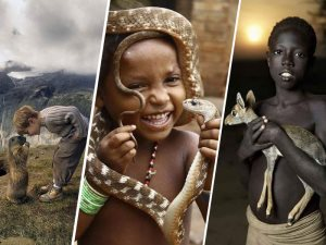 الصداقة بين الأطفال والحيوانات على غير العادة فى جميع أنحاء العالم