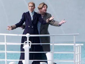 صور وفيديو.. سيلين ديون وجيمس كوردن يعيدان مشهد تيتانيك الشهير