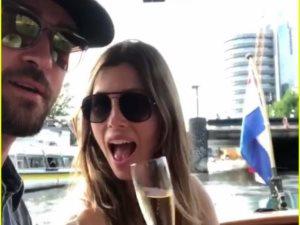 فيديو.. جاستين تيمبرليك فى أمستردام مع زوجته جيسيكا بيل
