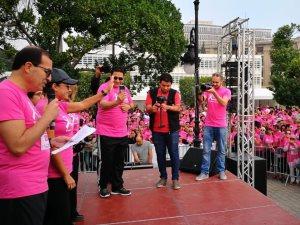 هند صبرى تبدأ ماراثون الجرى من أجل التوعية بسرطان الثدى